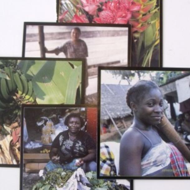 Dobbelte postkort med motiver fra Caribien